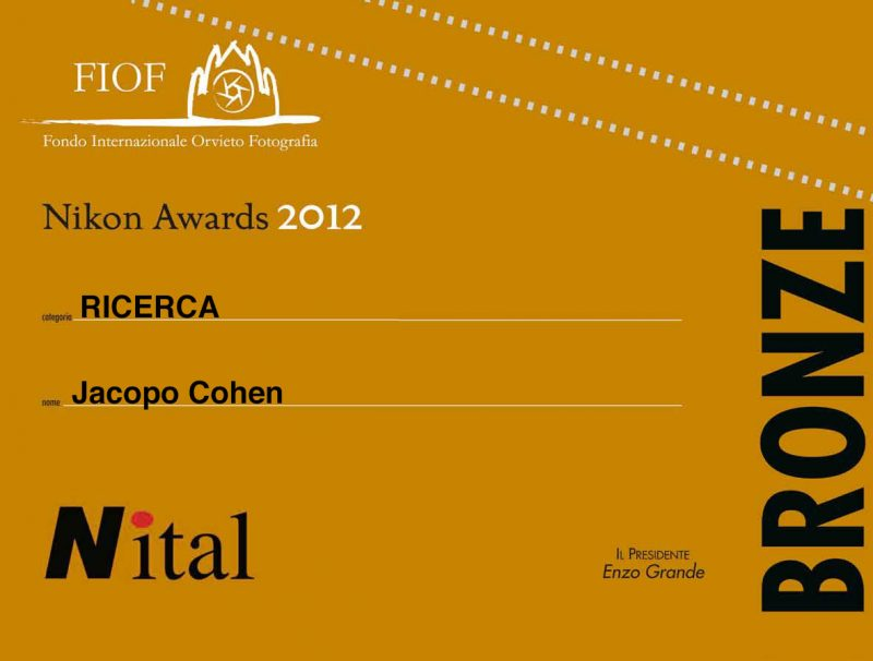 Jacopo Cohen Bronze Awards Fiof
