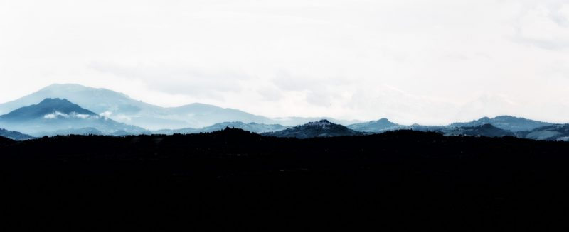 Shades of blue mountains