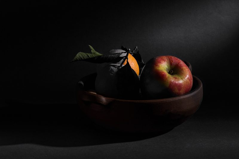 Still Life in Black and White and Colors